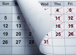turning calendar