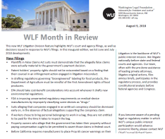 WLF Month in Review